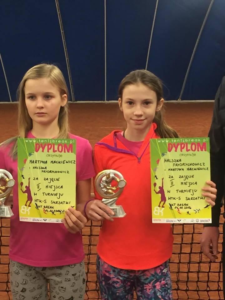 Halszka Frydrychowicz - 2 miejsce w deblu w turnieju tenisa WTK skrzatki w Warszawie