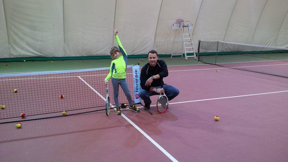 Na treningu Monika Stankiewicz z Michałem Lewandowski