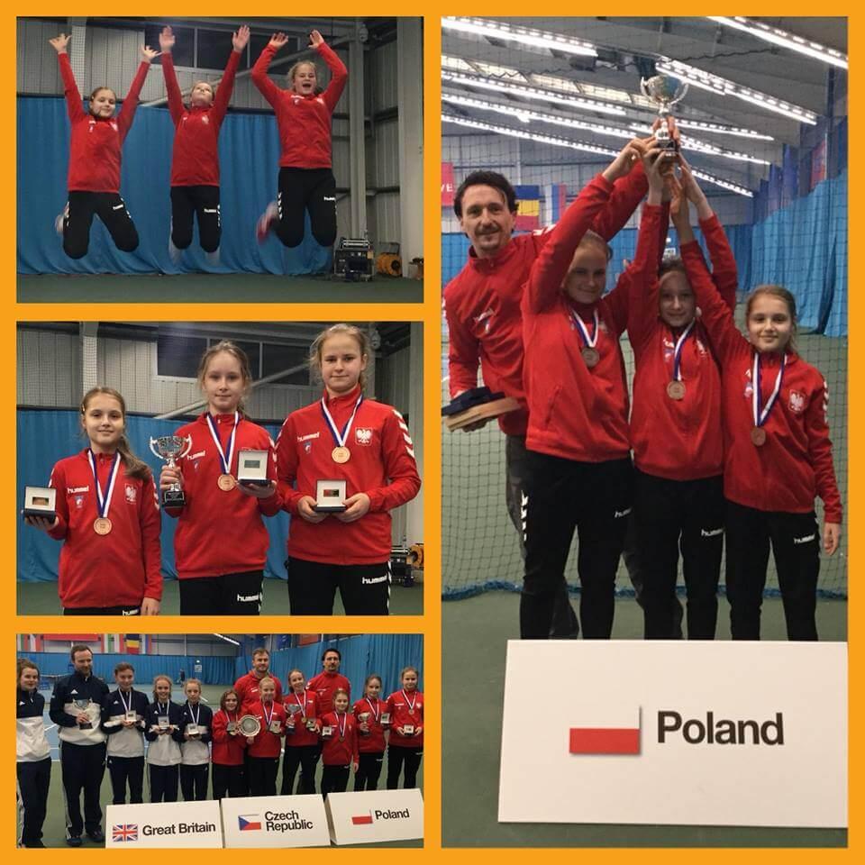 Reprezentacja dziewcząt U12 zdobyła brązowy medal Halowych Drużynowych Mistrzostw Europy